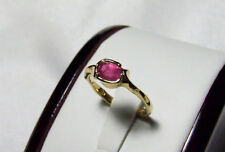 18 carat gold handcrafted pink sapphire ring