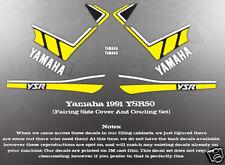 YAMAHA 1991 - 1992 YSR50 FAIRING COWLING DECAL GRAPHIC SET