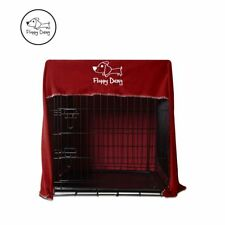 "OFFICIAL Floppy Dawg™ Innovative Dog Crate Cover Fits Large 42"" Crate in Red"