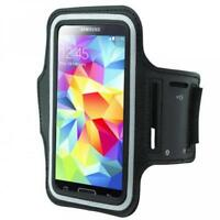 ARMBAND SPORTS GYM WORKOUT COVER CASE RUNNING ARM STRAP BLACK For CELL PHONES