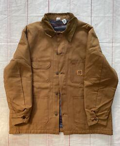 Vtg 70s Deadstock Big Ben Wrangler Chore Barn Brown Blanket Lined Jacket USA 48