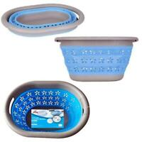 FOLDABLE COLLAPSIBLE LAUNDRY BASKET CLOTH WASHING SPACE SAVING POP UP BIN
