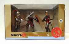 """Schleich 3 Pack Collection Red Knights of Medieval Times Action Figure  '"""" NEW """""""