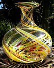 Large Murano? Art Glass Swirl Vase -Hand Blown Artisan Glass-Polished Pontil 11