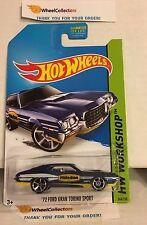 '72 Ford Torino Sport #248 * BLUE * 2014 Hot Wheels * Y26