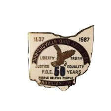 1987 FOE Order of Eagles Uhrichsville Ohio  Auxiliary 39 Fifty Year Pin