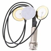 1X(Contact piezo Microphone 3 transducteur Pickups avec prise de broche d'e 2J9)