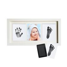 UK Photo Frame Air Drying Clay Baby Handprint Footprint Imprint Kit Casting #X