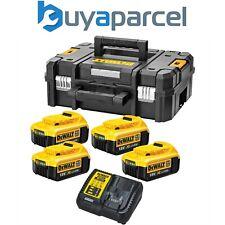 Dewalt XR Kit de fuente de alimentación 4x DCB182 4.0ah 18v baterías + DCB115 Cargador + TSTAK