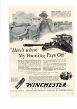 VINTAGE 1942 WINCHESTER RIFLES SHOTGUNS CARTRIDGES SHOTSHELLS HUNTING AD PRINT