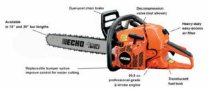 "Brand New ECHO CS-590 Gas Chainsaw  24"" Bar 59.8cc  IN ORIGINAL BOX"