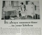 1929 General Electric fridge advertisement, early MONITOR-TOP refrigerator photo