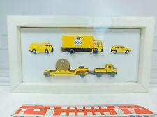 AU841-0,5# Wiking H0 Set 500 Anni Posta: CAMION DELL'UOMO+Volkswagen/VW Golf