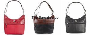 Giani Bernini Hobo Bag Pebble Crocodile Hobo Bag Black, Brown/Black