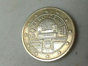 50 Cent  Euros 2002 Autriche / coin  Austria / 50 c euros