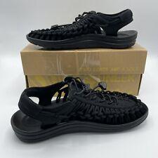 Keen Uneek Original Sandal Women Size US 6.5 Active Shoes Two-Cords Black