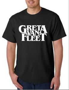 Greta Van Fleet T-Shirt Funny Birthday Cotton Tee Vintage Gift For Men Women