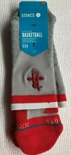 Stance Houston Rockets Men's Socks XXL (17-20) NWT Gray and Red
