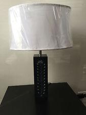 Zephyr 1-light Black Soap Stone Lamp