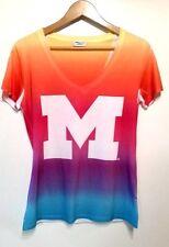 90s VTG Michigan Wolverines Tie Dye T Shirt womens size M medium