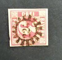 Bayern 3 Kreuzer rot Nr. 9, zentraler gMR 224 Immenstadt/Schwaben