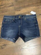 Nwt Junior Mudd CUT OFFS Jean Shorts Size 11 Dark Denim NWT