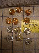 12Pc Sequin Flower Beads Spangle Paillettes 3D Applique Wearable Art Notion VTG