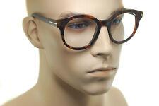 TOM FORD FT5491 055 54mm Men Women OVERSIZED Large Round Eyeglasses BROWN HAVANA
