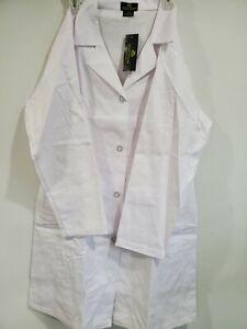 "Natural Uniforms Medical White Unisex 40"" Long Lab Coat  for Men and Women 1516"