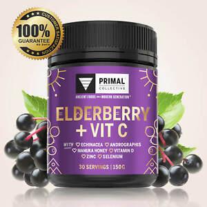 Elderberry and Vitamin C Powder, 150g