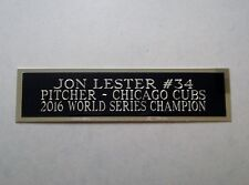 Jon Lester Cubs Engraved Nameplate For A Baseball Bat Display Case 1.5 x 8