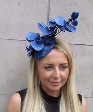 Royal Blue Orchid Flower Fascinator Hat Wedding Hair Clip Races Headpiece 3133