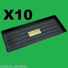 10 X 1M GROW BAG TRAYS 100CM TOUGH RIDGID DRIP 1M GRAVEL GARDEN WATERING TRAY