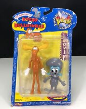 The Adventures  00006000 of Rocky & Bullwinkle Bend-Ems Bendable Poseable Collectable Nip