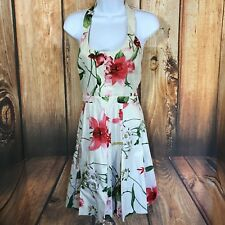 D&G Dolce & Gabbana Halter A Line Floral Print Dress Size 40 Back Zip