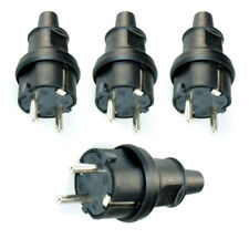 4 Schukostecker Schutzkontakt Stecker 230V 16A IP44 Spritzwasser geschützt