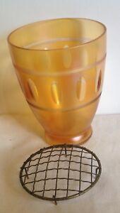 Vintage Carnival Glass Vase 15.5 cm