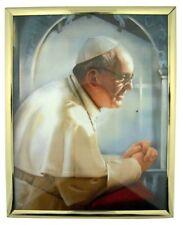 Catholic Leader Pope Francis Jeorge Mario Bergoglio Picture in Frame, 12 Inch