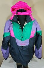 VTG Nevica Ski Coat 90s Colorblock Jacket Neon Survival 80s Winter Snowboard 38
