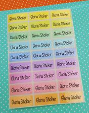 72 Rainbow Color Custom Waterproof Name Labels-DAYCARE,SCHOOL (Buy 5 get 1 FREE)