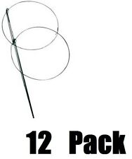 """12 ea Panacea Products 89322 18"""" W x 36"""" T Double Ring Peony Hoop Plant Supports"""