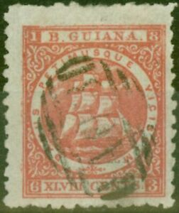 British Guiana 1867 48c Red SG105 P. 15 Fine Used Ex-Fred Small