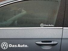 2 x Das Auto Logo Window Decal Sticker Graphic *Colour Choice*