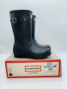 HUNTER Women's Original Short Rain Boots Black (BLK) US 5 / EUR 36  *Pre-Owned*