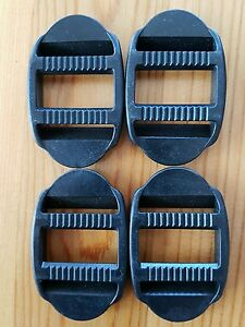 4 x 25mm black Plastic Double Ended Ladder Lock - For Webbing