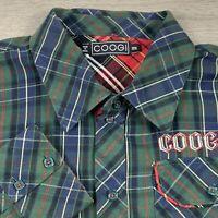 COOGI Australia Vintage Men's Long Sleeve Plaid Button Front Shirt (Size 3XL)