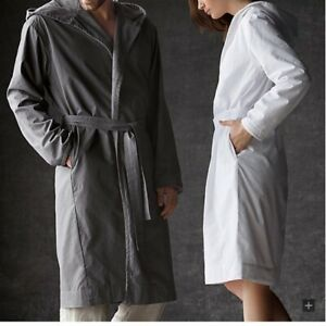 Restoration Hardware RH Mens Womens 100% Hooded Spa Robe Small S