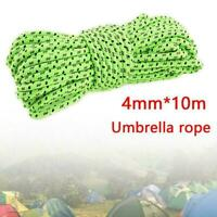 4MM Reflective Outdoor Camping Tarp Tent Rope Runners Cord Paracord 10M  2019