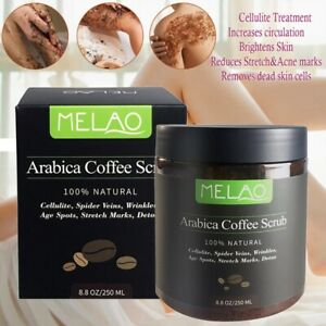 100%Natural Arabica Coffee Scrub-250ML-Anti Cellulite,Age Spots,Wrinkles,Detox