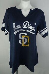 San Diego Padres MLB Majestic Women's Plus V-Neck Shirt